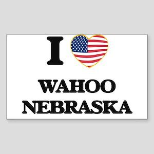 I love Wahoo Nebraska Sticker