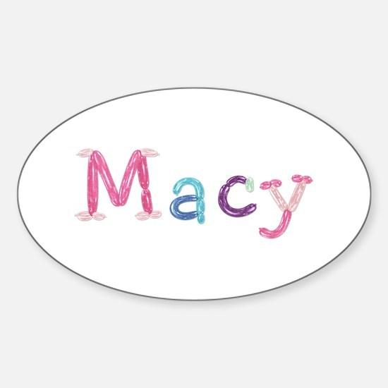 Macy Princess Balloons Oval Decal