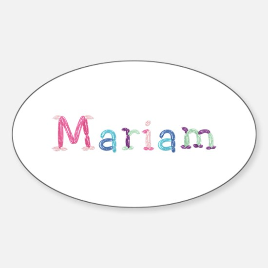 Mariam Princess Balloons Oval Decal