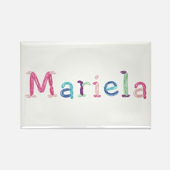 Mariela Princess Balloons Rectangle Magnet