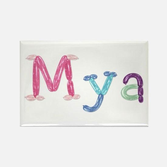 Mya Princess Balloons Rectangle Magnet