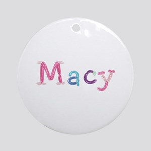 Macy Princess Balloons Round Ornament