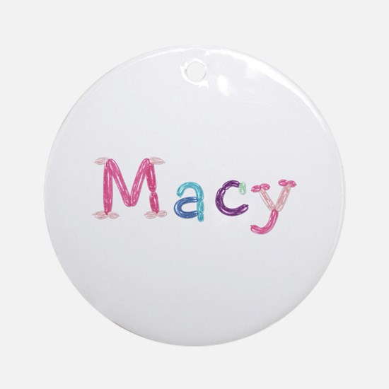 Macy Princess Balloons Round Ornament