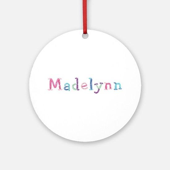 Madelynn Princess Balloons Round Ornament