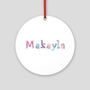 Makayla Princess Balloons Round Ornament
