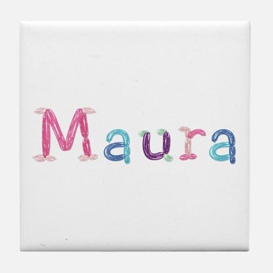 Maura Princess Balloons Tile Coaster