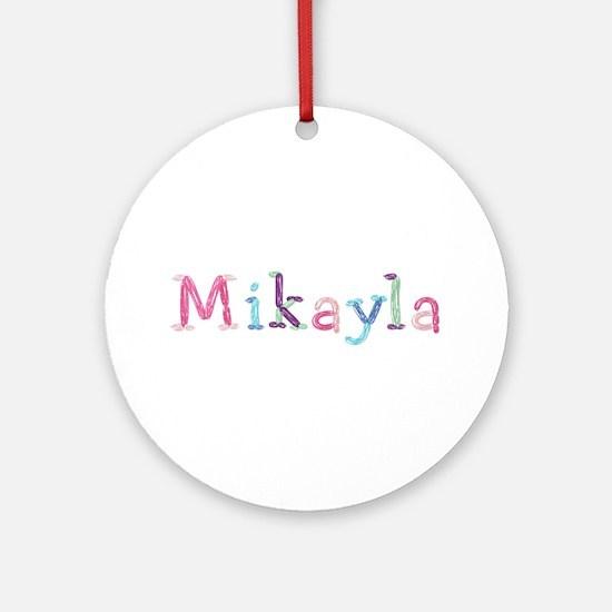 Mikayla Princess Balloons Round Ornament