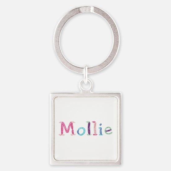 Mollie Princess Balloons Square Keychain