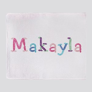 Makayla Princess Balloons Throw Blanket