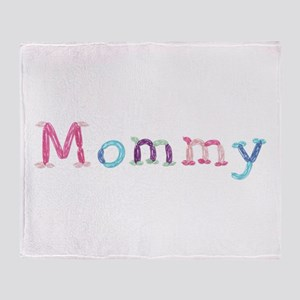 Mommy Princess Balloons Throw Blanket