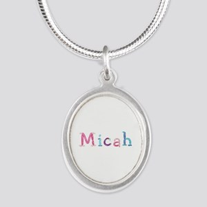 Micah Princess Balloons Silver Oval Necklace