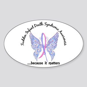 SIDS Butterfly 6.1 Sticker (Oval)