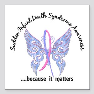 "SIDS Butterfly 6.1 Square Car Magnet 3"" x 3"""