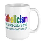 Large Catholic Rainbow Mug