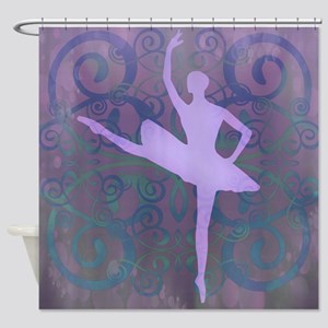 Purple Ballerina Shower Curtain