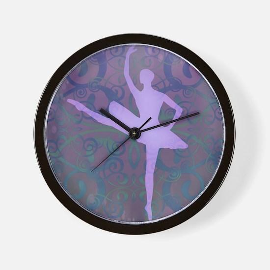 Purple Ballerina Wall Clock