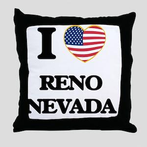 I love Reno Nevada Throw Pillow