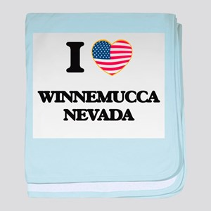 I love Winnemucca Nevada baby blanket