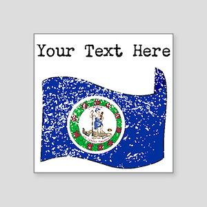 Virginia State Flag (Distressed) Sticker