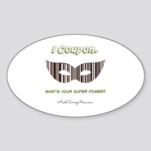I Coupon. Sticker (Oval)