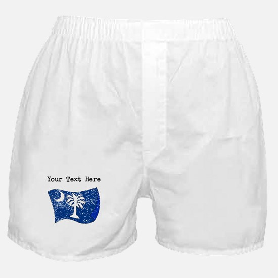 South Carolina State Flag (Distressed) Boxer Short