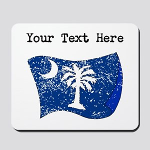 South Carolina State Flag (Distressed) Mousepad