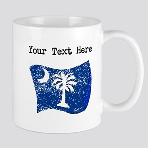 South Carolina State Flag (Distressed) Mugs