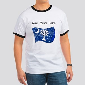 South Carolina State Flag (Distressed) T-Shirt