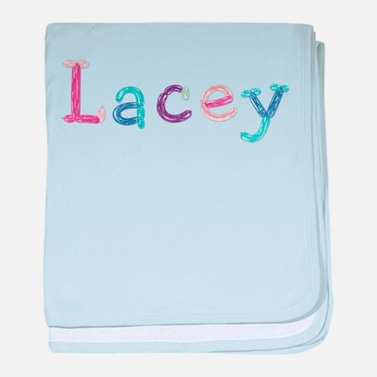 Lacey Princess Balloons baby blanket