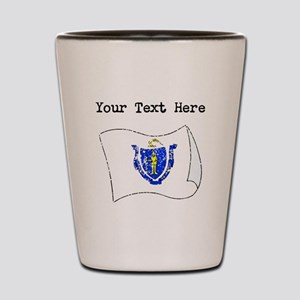Massachusetts State Flag (Distressed) Shot Glass