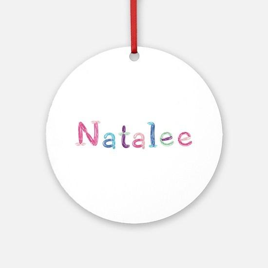 Natalee Princess Balloons Round Ornament