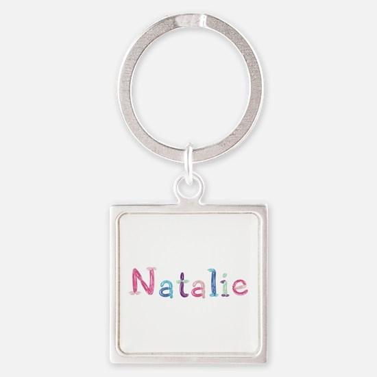 Natalie Princess Balloons Square Keychain