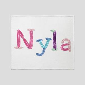 Nyla Princess Balloons Throw Blanket