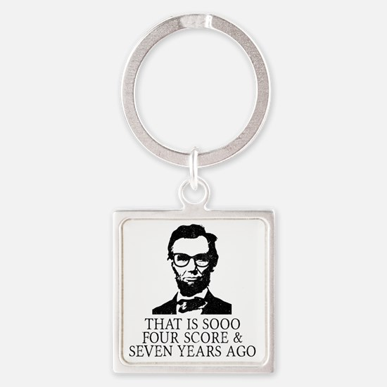 Funny Lincoln Square Keychain