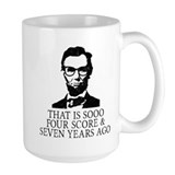 Abraham lincoln Large Mugs (15 oz)