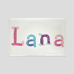 Lana Princess Balloons Rectangle Magnet