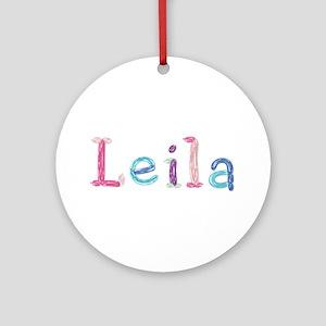 Leila Princess Balloons Round Ornament