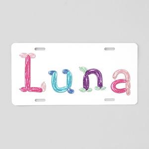Luna Princess Balloons Aluminum License Plate
