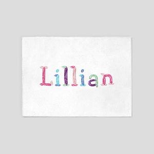 Lillian Princess Balloons 5'x7' Area Rug