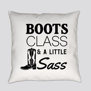 Boots Class And A Little Sass Everyday Pillow