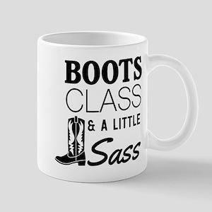 Boots Class And A Little Sass Mugs