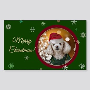 Christmas Toy Poodle Sticker