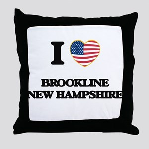 I love Brookline New Hampshire Throw Pillow