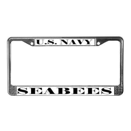Navy Seabees License Plate Frame