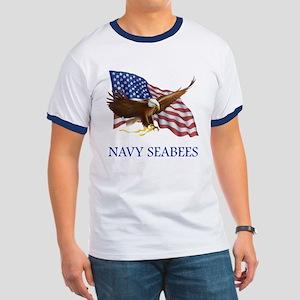 Navy Seabees Ringer T