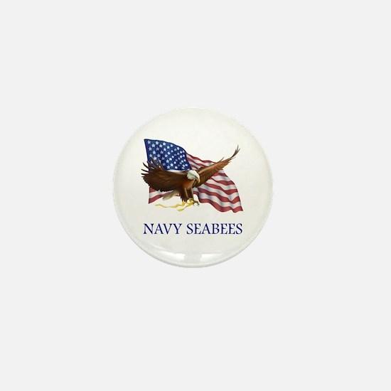 Navy Seabees Mini Button