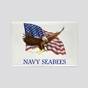 Navy Seabees Rectangle Magnet