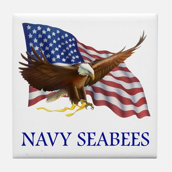 Navy Seabees Tile Coaster