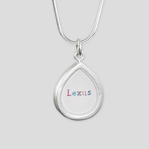 Lexus Princess Balloons Silver Teardrop Necklace