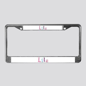 Lila Princess Balloons License Plate Frame